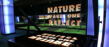 Nature make one reflect